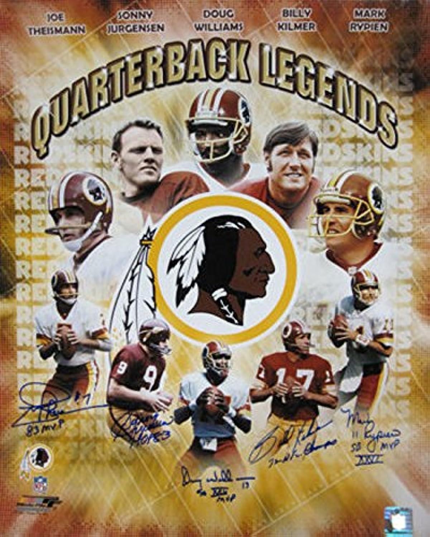 Washington Redskins Quarterback Legends Autographed 16x20 photo (Theismann, Jurgensen, Williams, Rypien, Kilmer)