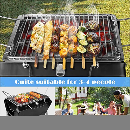 61PbyQHXzeL. SL500  - WWJJLL Koffer-Stil BBQ, Barbecue Grill Zubehör Tragbare Holzkohle BBQ Grillplatz Picknick für Campingfestivals Reise BBQ 3-4 Diners