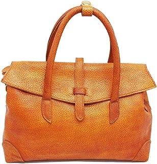 Trendy Lady Leather Handbag Retro Shoulder Bag Literary Hand-wiping Crossbody Bag Zgywmz (Color : Yellow, Size : 33x12x22cm)