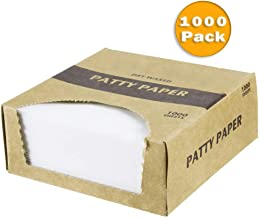 Netko Waxed Butcher Paper Sheets | Hamburger Patty, Fresh Meat, Deli, Cheese & Cookie Dough Quick Release Separator | Freezer & Thawing Kitchen Supplies | 1000 Non-Stick Wax Paper Squares Per