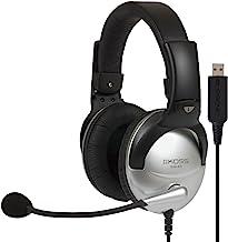 Koss SB45 USB Binaural Diadema Negro, Plata - Auriculares con micrófono (Media/Comunicación, Binaural, Diadema, Negro, Plata, Alámbrico, Negro)