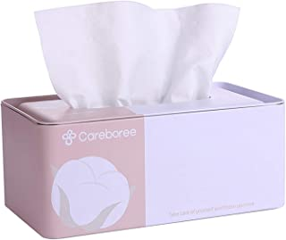 Careboree Extra Thick Facial Cotton Tissue Set Include 1 Baby Wipe Dispenser Refillable and 1 Pack of Baby Dry Wipes