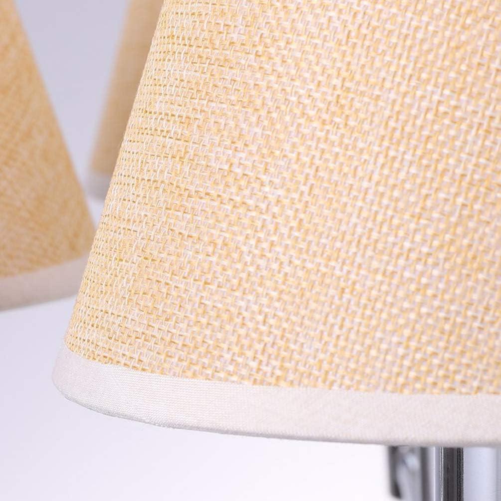 FRCOLOR Piccolo Paralume in Stoffa Lino Naturale Clip su Lampadario Lampada Accessori per Lampade Protettive per La Casa Cachi