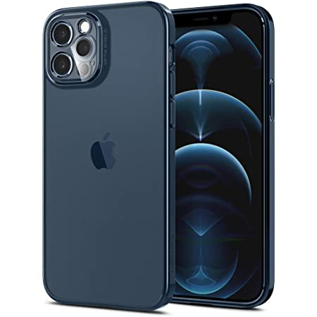 Spigen iPhone12 Pro ケース 一体型レンズ保護 TPU バンパー ケース 滑り止め すり傷防止 柔軟 一体型レンズ保護ケース 6.1インチ 背面クリア ワイヤレス充電対応 アイフォン12 ケース オプティック・クリスタル ACS02753 (クローム・パシフィック)
