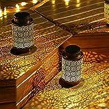 Yinuo Mirror Solar Laterne 2 Stuck,Solarlaterne Für Außen,Solarlaterne Wasserdicht,Solarlampen für Außen Deko,Balkonbeleuchtung,Led Laterne für Garten,Deko