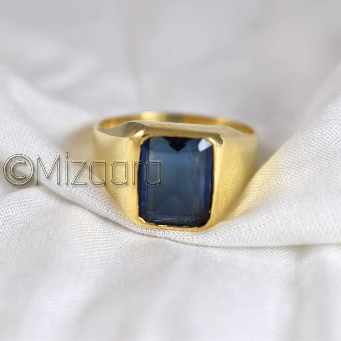 Blue Sapphire Ring September Birthstone Men's Gold Popular overseas Spring new work Sa