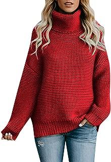 Women Long Turtleneck Knitted Sweater Coats Jumper Pullover Tops Blouse Loose Winter Knitwear
