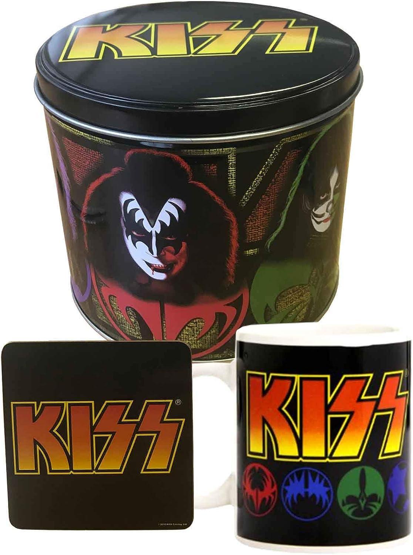 Official Kiss Gift Set Mug And High material Presentat Icons Band Logo Cheap sale Coaster