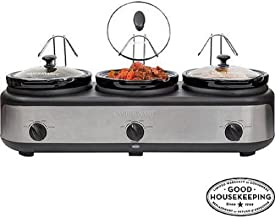 Faverware Triple Slow Cooker ( 3 Crocks/ 2.5 Quarts)