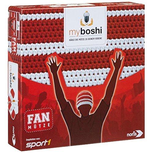 Noris Spiele 606311346 My Boshi, Fan Mütze In Den Vereinsfarben rot weiß