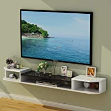 Floating Shelf Wall-Mounted Tv Cabinet Bedroom Living Room Wall Shelf Router Set Top Box DVD Player Storage Shelf Display ...
