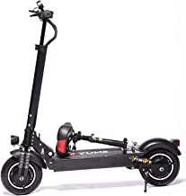 """YUME D4+ Powerful 10"""" Dual Motor 2000W Pneumatic Tire Up to 40Mile 40MPH Foldable Electric Scooter with Seat for Adults"""