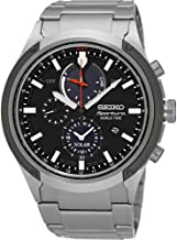 Seiko Mens Watch Sportura Solar World Time Chronograph SSC479P1