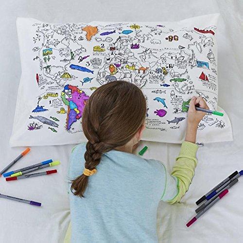 eatsleepdoodle [イートスリープドゥードゥル] world map pillowcase 枕カバー(ワールドマップ) pic-mapdpc