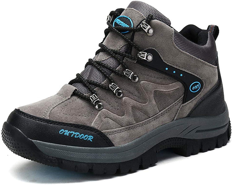 SELCNG Wanderschuhe Unisex-Wanderschuhe Wasserdichte Wanderschuhe Herren-Wanderschuhe mit Outdoor-Sport-Wanderschuhen Rutschfeste Laufsohle-grau-42