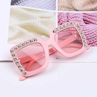 Powzz ornament - Gafas de sol de gran tamaño bonitas para niños de 2021 Gafas cuadradas para niños Gafas de sol de colores de moda para bebés Gafas de sol para niños y niñas-5_China