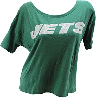 Victoria's Secret Pink NFL NY Jets Glitter Round Neck Green Small T-Shirt Tee