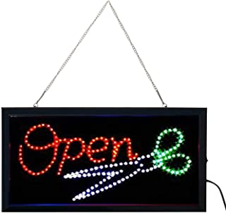 E-ONSALE Ultra Bright LED Neon Animated Hair Cut Salon Open Sign for Business w/Power & Animation On/Off