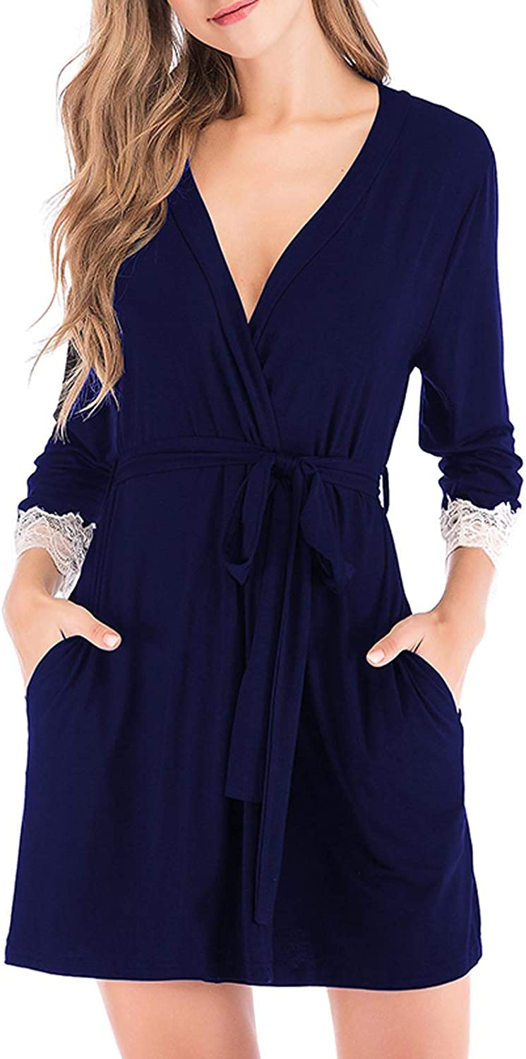 Women's Casual Autumn Winter Bathrobe Home L Free shipping / New Solid Color Clothes 5% OFF