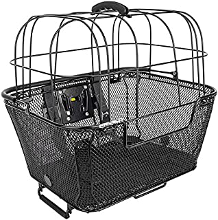 SUNLITE RackTop/Handlebar pet Friendly QR Basket, 15.7 x 16.9 x 12, Black