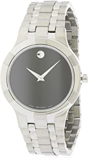 Movado Metio Black Dial Stainless Steel Mens Watch 0606203