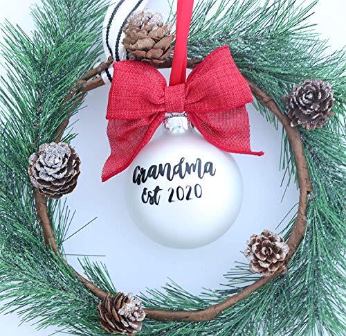 None-brands Anuncio de embarazo ornamento de anuncio de bebé adorno de anuncio de Navidad de embarazo anuncio de Navidad adorno colgante de árbol decoración de abuelos
