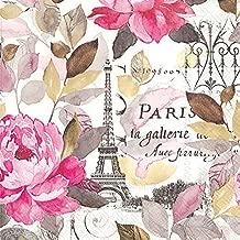 Celebrate the Home Jardin Paris 3-Ply Paper Cocktail Napkins, 20-Count, Pink
