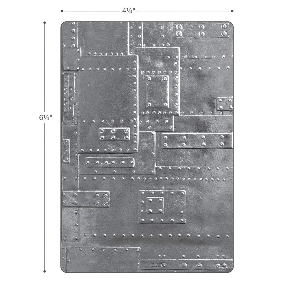 Sizzix (SIZC7) 662717 3-D Texture Fades Embossing Folder, Gray