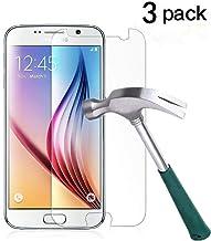 TANTEK Galaxy S6 Screen Protector, [Bubble-Free][HD-Clear][Anti-Scratch][Anti-Glare][Anti-Fingerprint] Premium Tempered Gl...