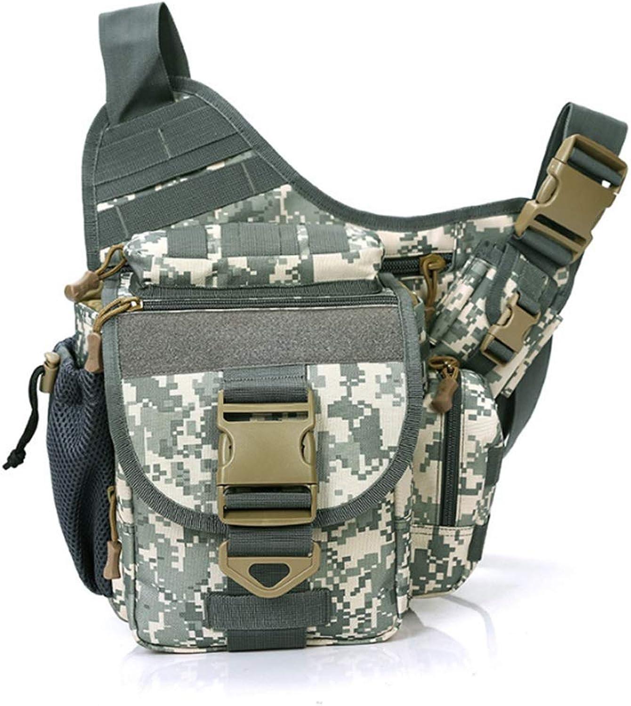 Camouflage Saddle Bag   Outdoor Bag   Travel Shoulder Bag   Men and Women Crossbody Bag   Waterproof Shoulder Bag (color   Camo Green)