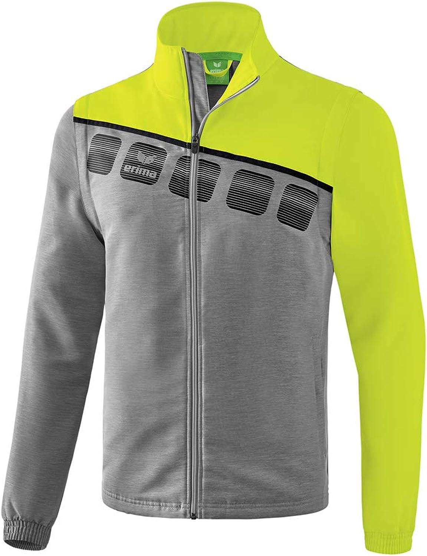 ERIMA 5-C Jacke mit abnehmbaren rmeln und seitlichen Reiverschlusstaschen, aus wasserabweisendem Polyester