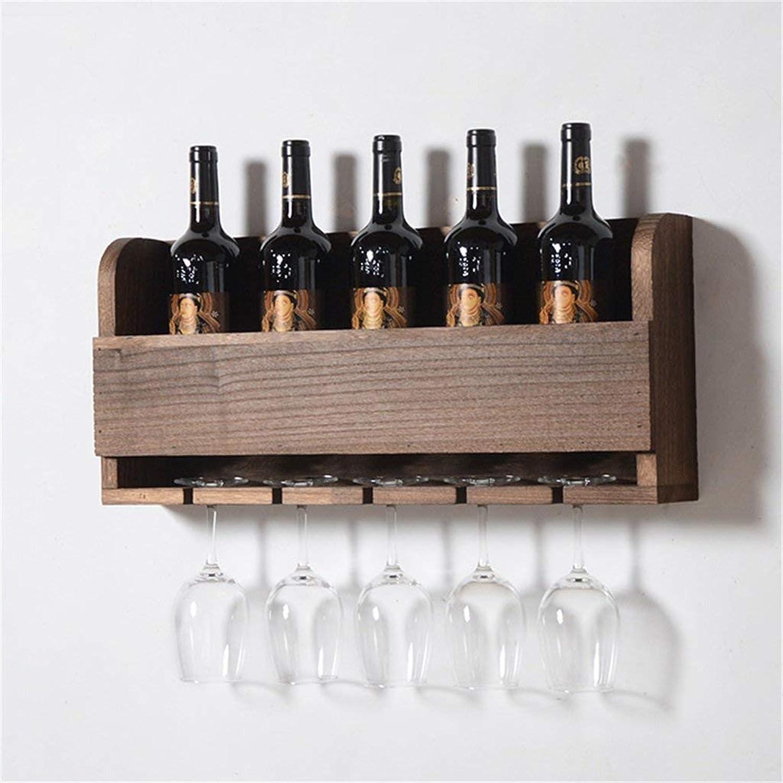 Red Wine Shelf Wood Wine Rack Wall Shelf for Bar Living Room   Wine Glass Holder   Wine Stand   Goblet Holder   Wall-mounted wine cooler   Hanging Wine Glass Shelf   Floating Unit Frame as Wall Decora