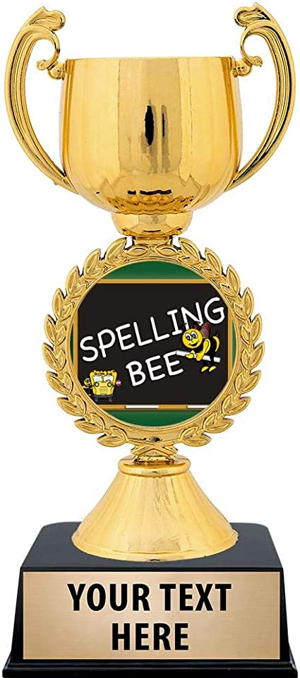 11 Spelling Bee Trophies Spelling Trophy with Custom Engraving and Perfect for Spelling Bee Awards Prime