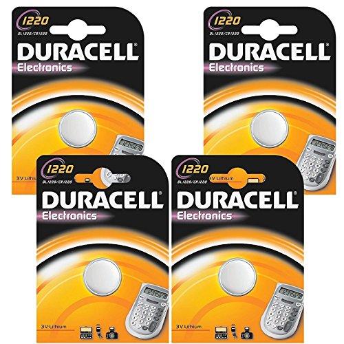 Seelank (TM) 4Duracell 1220CR1220DL1220della batteria al litio a bottone