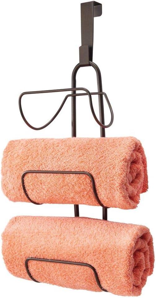 mDesign Modern Decorative Metal Wire Rack Over Towel Door Direct store Shower Ranking TOP3