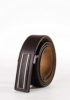 Heruk Mens Belt, Genuine Top Bulliant Leather With Classic Buckle