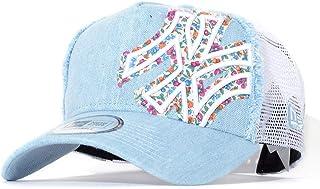 NEW ERA メッシュキャップ 帽子 スナップバック デニム フラワーNYロゴ バタリオン (11901230) O/S WHI-WSDN