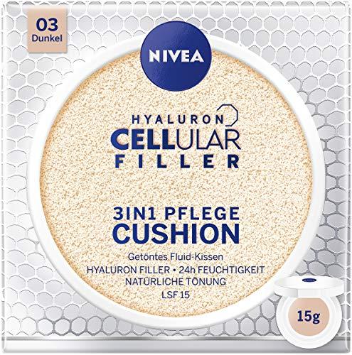 NIVEA 3in1 Anti-Age Pflege Kissen für natürliche Tönung und Feuchtigkeit, Für Dunklere Hauttypen, 15 ml