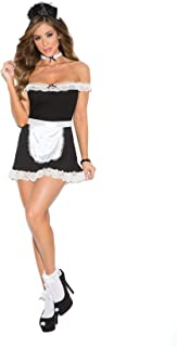 Hot Spot Women's Sexy Maid Off The Shoulder Dress Adult Role Play Costume