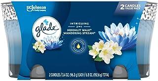 خوشبو کننده هوا شمع Glade 2in1 Jar Candle، Walk Moonlight & Walking Stream ، 2 شمع ، 6.8 اونس