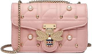 Bee Shoulder Bag for Women, Elegant Handbag Crossbody Bag with Pearl