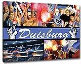 Ultras Duisburg Collage Format: 120x80, Bild auf Leinwand