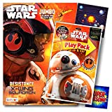 Star Wars Coloring Book Activity Set with Coloring Pages, Sticker Sheet, and Crayons Bundle Includes Separately Licensed GWW Reward Stickers