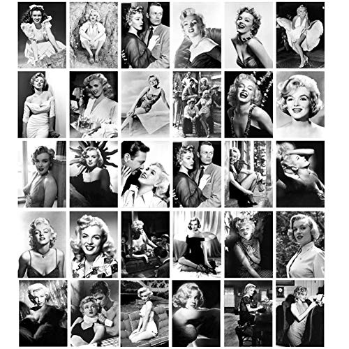 Postkarten mit 30 Stück Selbstposter, Audrey Hepburn, Marilyn Monroe, Reise-Grußkarten, Thanksgiving, Reisekarten, Film, berühmte Star-Kollektion, Postkarten Marilyn Monroe