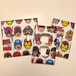 Marvel Comics Avengers, light plate cover,light switch plate, outlet cover, outlet plate, home decor, Decoupage
