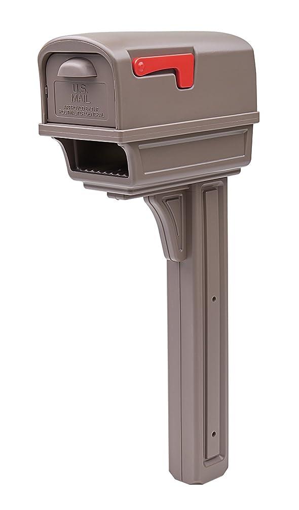 厄介な改修する彼らはRubbermaid GC1M0000 Large Deluxe Plastic Mailbox and Post Combo, Mocha Solar [並行輸入品]