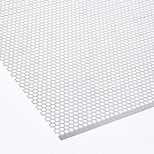 Lochblech Hexagonal Aluminium (HV6-6,7) 1,5mm dick Zuschnitt individuell auf Maß NEU günstig (500 mm x 150 mm)
