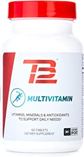 TB12 Multivitamin Supplement for Men and Women | Bioavailable Vitamins and Minerals - Vitamins A B C D E, Zinc, Calcium, A...