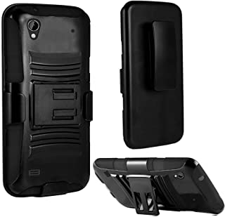 ZTE Quartz Z797C 797C, EpicDealz Armor Series - Heavy Duty Dual Layer Holster Case Kick Stand with Locking Belt Swivel Clip For ZTE Quartz Z797C 797C (Tracfone, Straighttalk) + Mini Stylus Pen + Case Opener