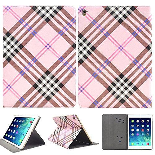 iPad 9.7 2017 カバー 新型 ipad 9.7 2017 ケース iPad 9.7 2017 手帳型 iPad 9.7 ケース 2017 モデル iPad 9.7 2017 case スタンド機能、カードホルダ付き ピンクスコットランド Tab